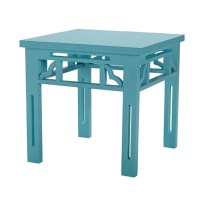 A CUTE TURQUOISE END TABLE! | COCOCOZY