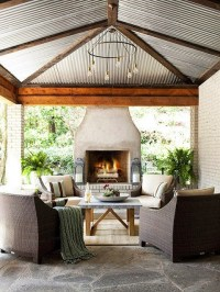 OUTDOOR LIVING ROOM - WICKER & BRICK - GET THE LOOK | COCOCOZY