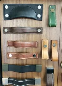 Leather Cabinet Hardware - Handles, Knobs & Pulls