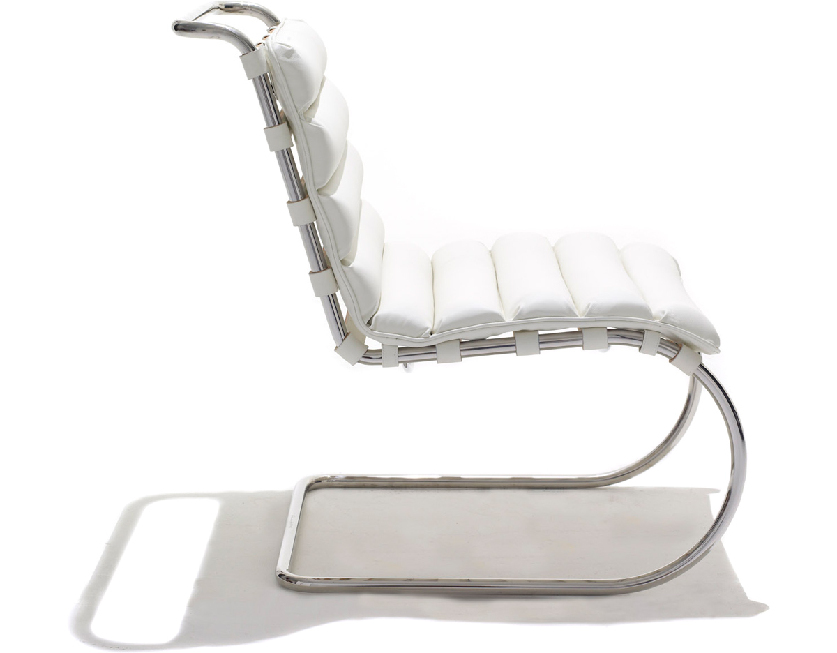 mr lounge cantiliver chair white leather chrome miesvanderrohe cococozy hive