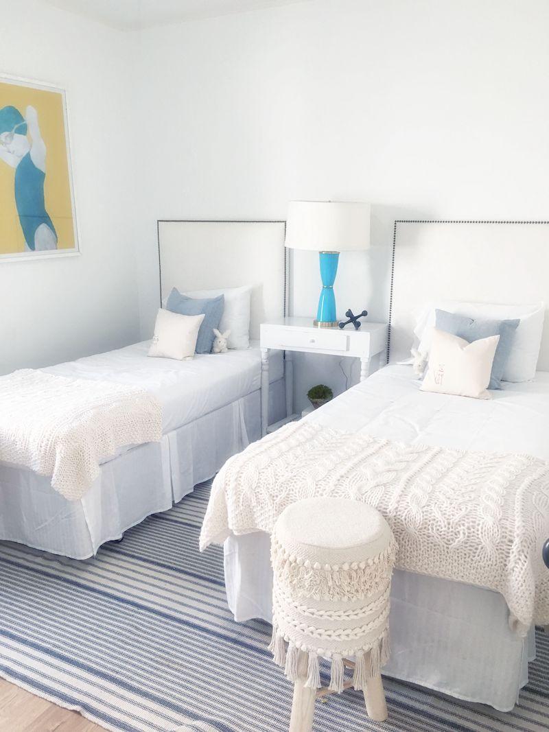 Cute nursery baby room design cococozy for Baby twin bedroom ideas