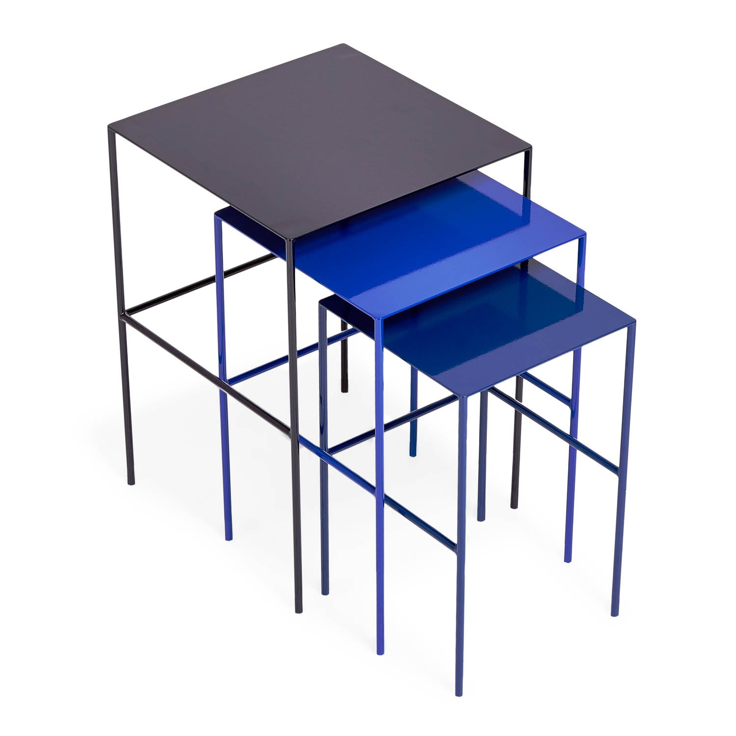 Black Metal Nesting Tables Metal Nesting Tables Cococozy