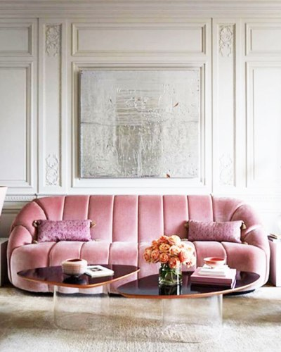 Velvet Sofa Trend 2018 Sitting Pretty In 27 Of The Most Trendy Pink Sofas | Cococozy
