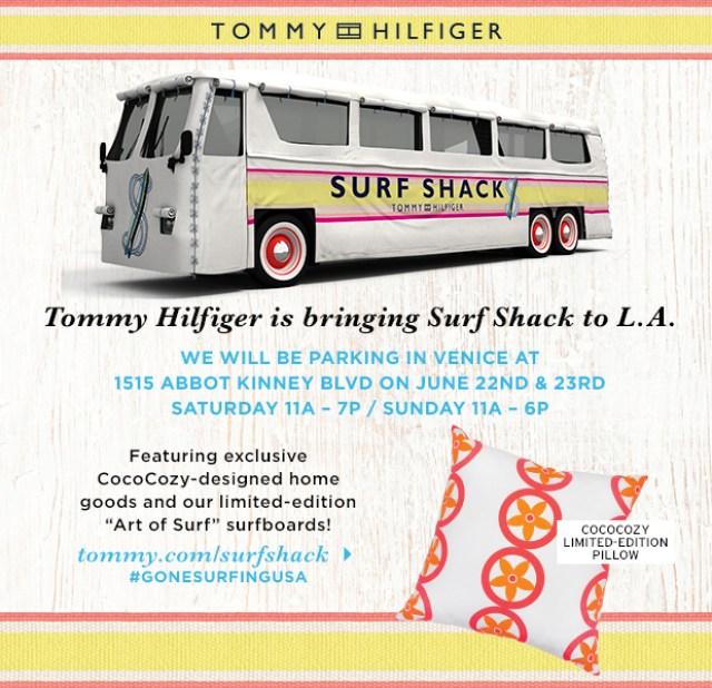Tommy Hilfiger Suff Shack Pop Up Shop bus Venice Beach
