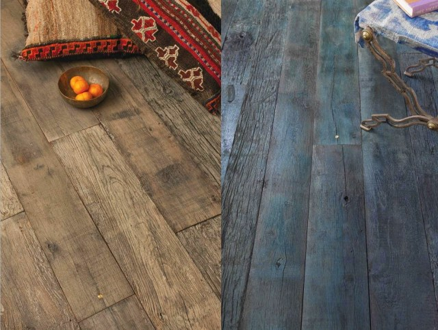 Aged wood floors