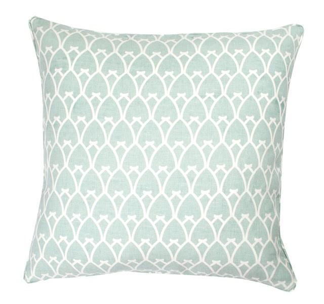 COCOCOZY Arch Linen Pillow in Sea Foam