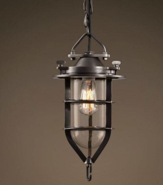 Bronze nautical pendant light
