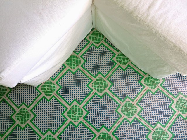 painted wood tile floors from Mirth Studio