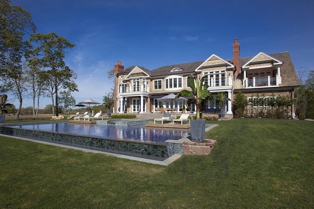 Traditional home Sag Harbor mansion Peconic Bay