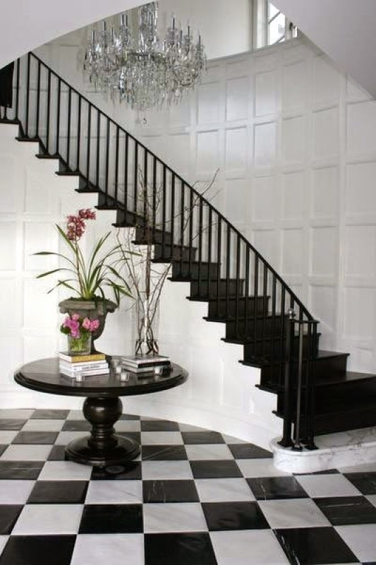 Black Foyer Stairs : Beautiful banisters stair railing chic cococozy