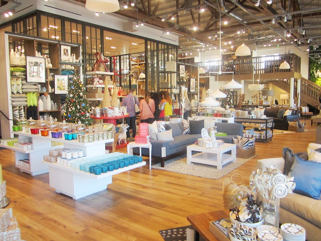 Interior of West Elm's store in Los Angeles