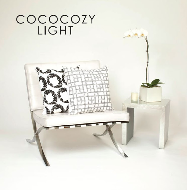 COCOCOZY Light pillows on a white chair