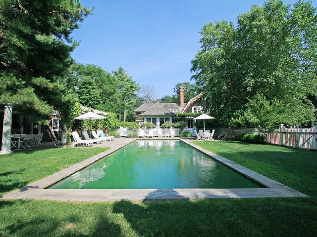 backyard and pool of a house in the Hampton's