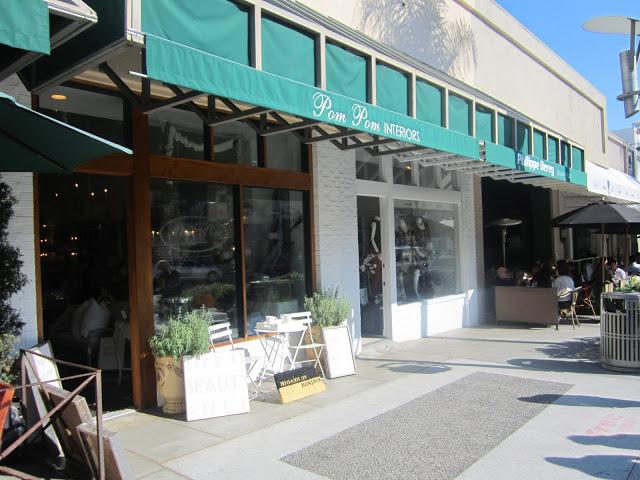 Exterior of Pom Pom Interiors shop