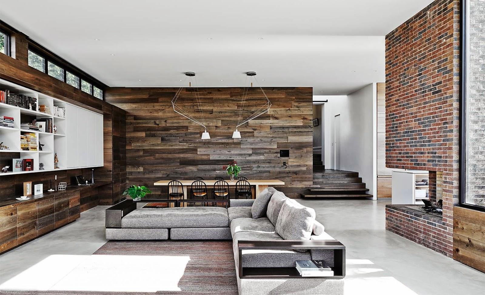 Open Floor Plan Reclaimed Wood