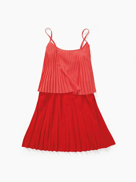 Tiered Pleated Sun Dress Tommy Hilfiger Surf Shack Coral Red Salmon pink