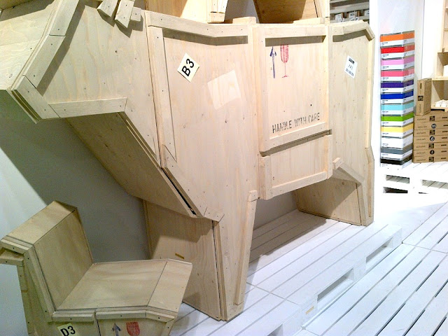 wooden cow cabinet