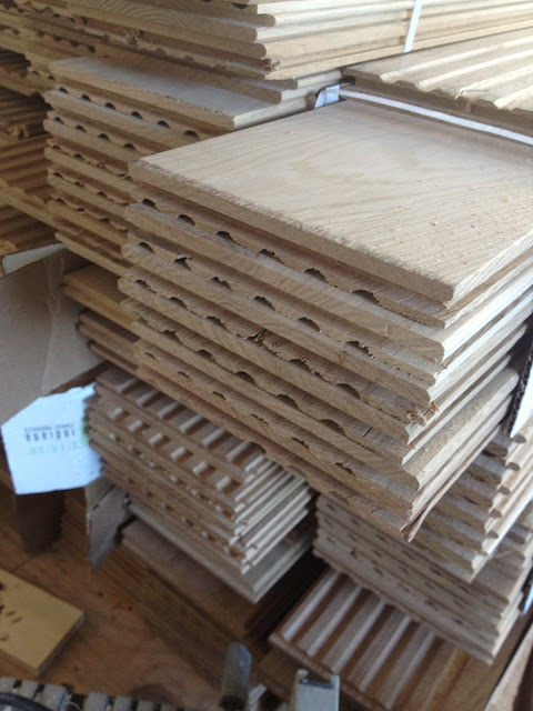 white oak wood floor planks stacked on top of each other