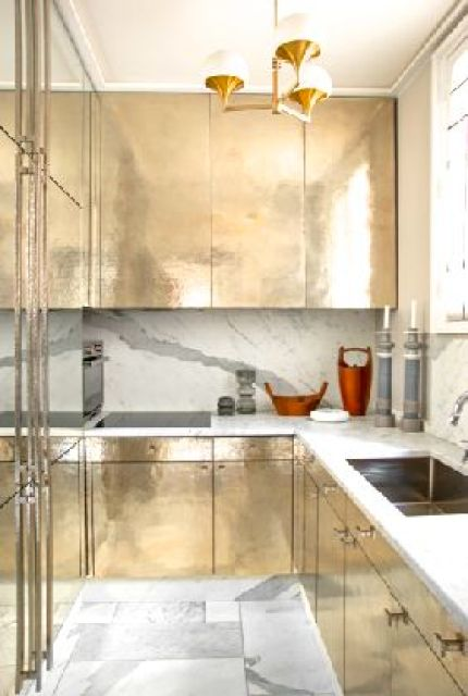 kitchen with gold cabinets by jean louis denoit kitchen gold