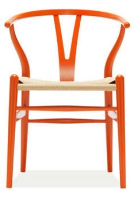 Orange Wegner Wishbone Chair
