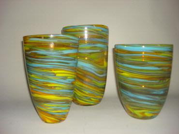 Swirl glass vase from Mecox Gardens