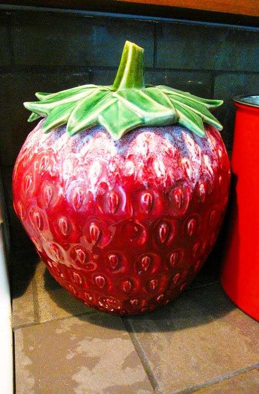 Antique strawberry McCoy jar