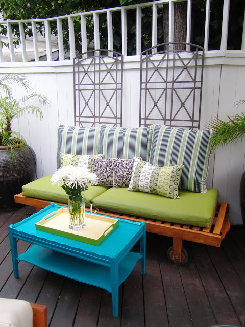 redecorated deck in the Hollywood Hills