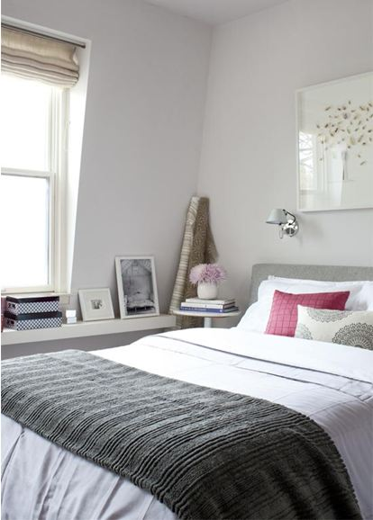 Simple grey bedroom
