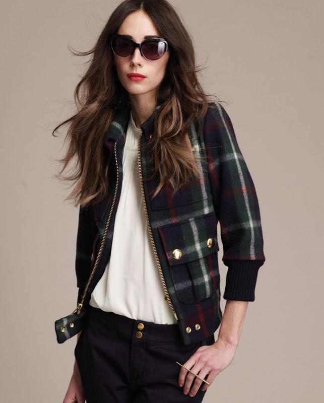 Plaid bomber jacket from Lauren Moffatt