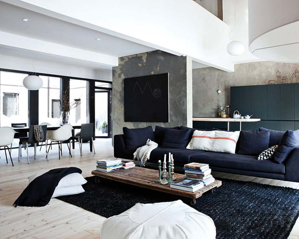 Industrial home in Finland - via Coco Lapine
