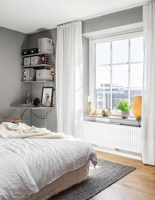 Sovrum sovrum grey : Bedroom in grey and pastel - COCO LAPINE DESIGNCOCO LAPINE DESIGN