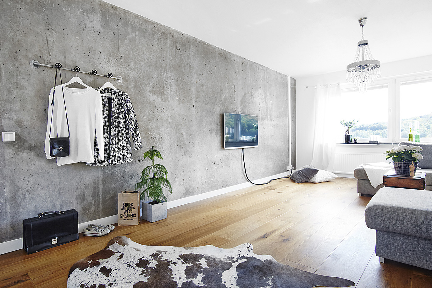 Concrete Rooms Living Room With A Concrete Wall Coco Lapine Designcoco Lapine