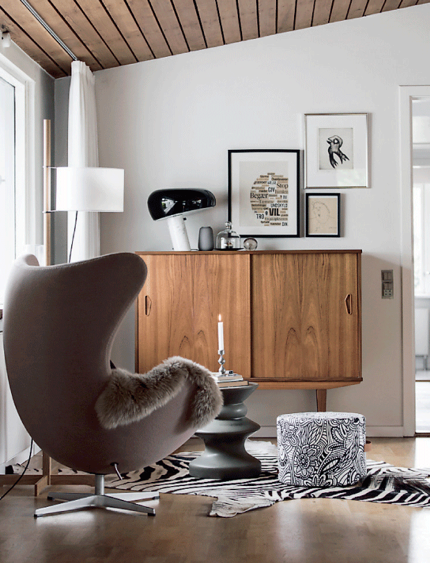 A collection of design classics in a home ready for fall - via cocolapinedesign.com