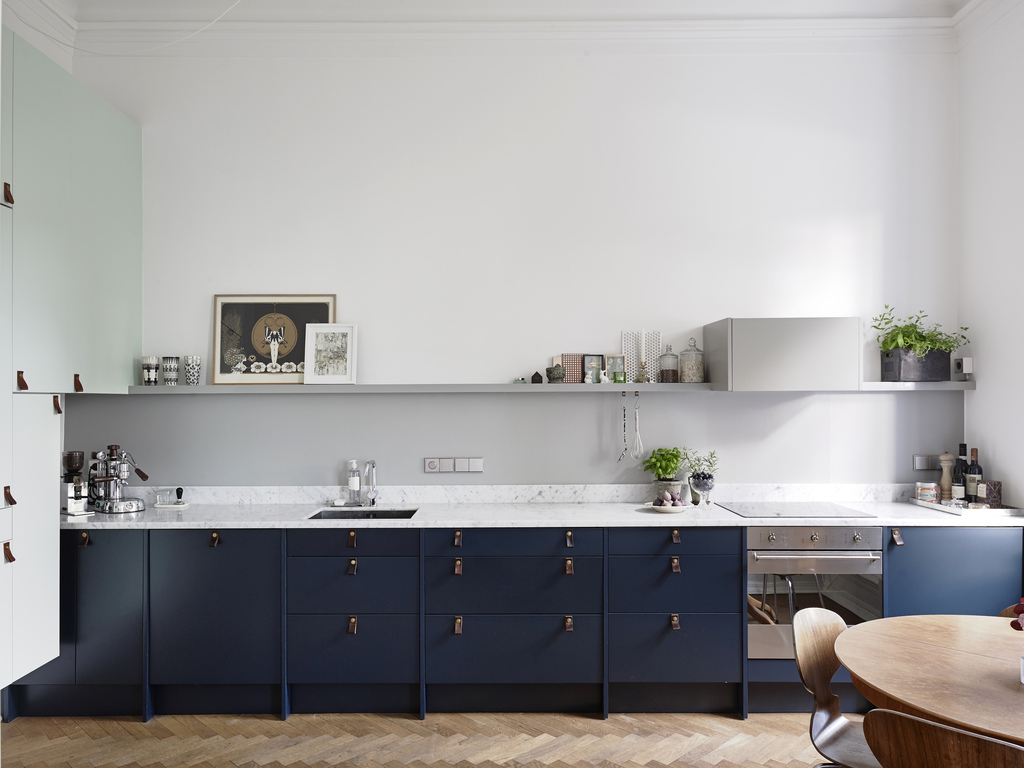Kitchen In Blue And Green Coco Lapine Designcoco Lapine