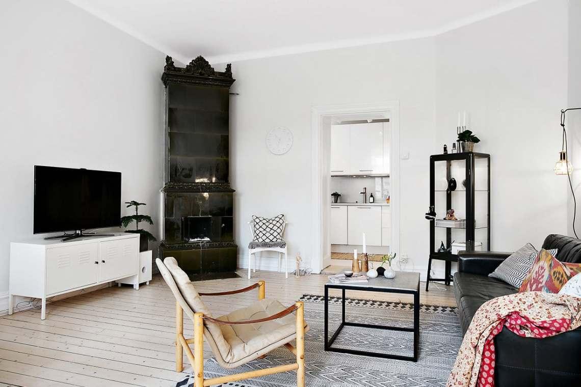Black fireplace - via cocolapinedesign.com