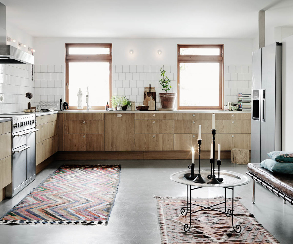 concrete floor and wooden cupboards - coco lapine designcoco