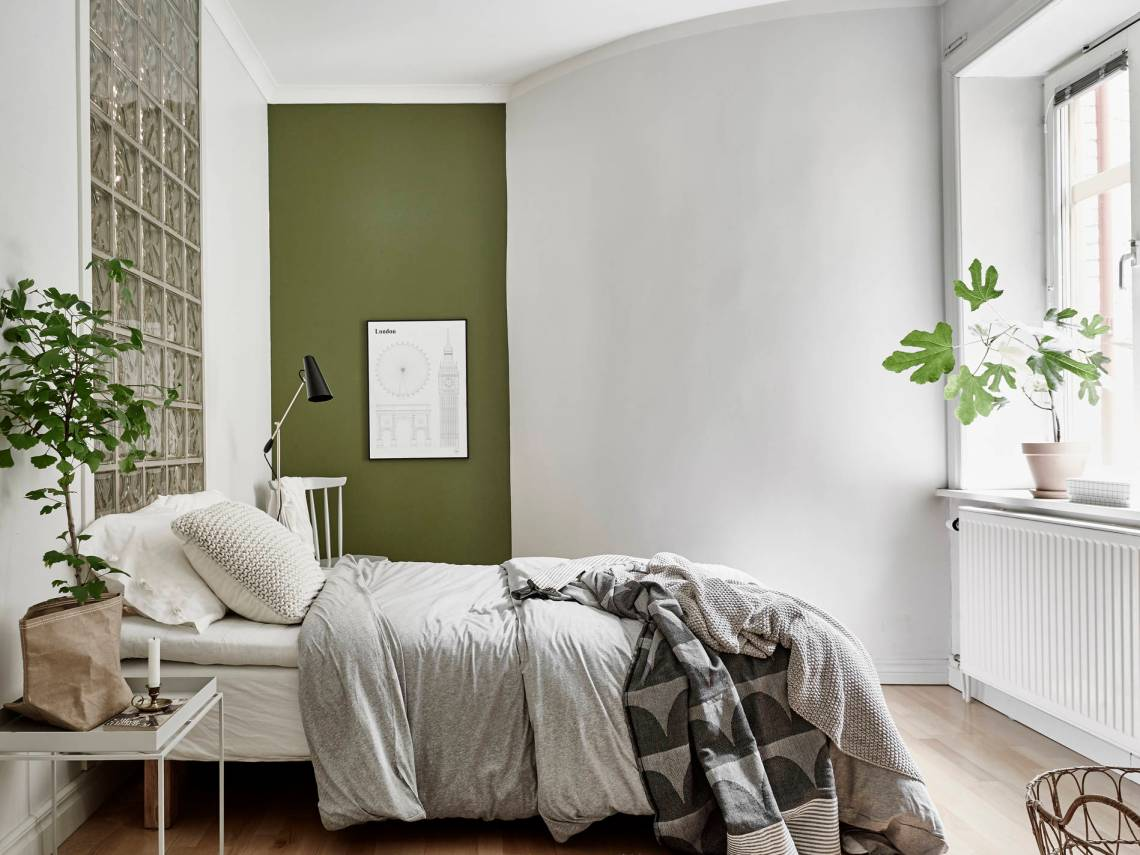 Home with grey and green - via cocolapinedesign.com