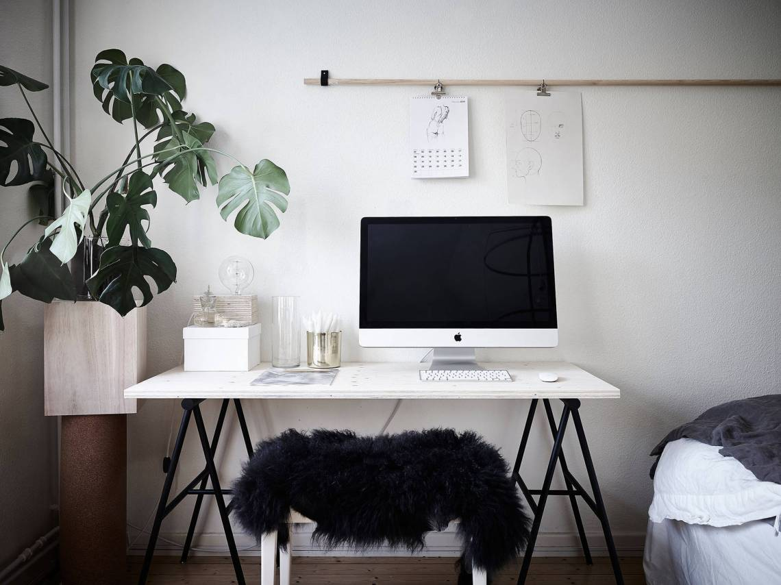 bedroom, living room and work space in one - coco lapine