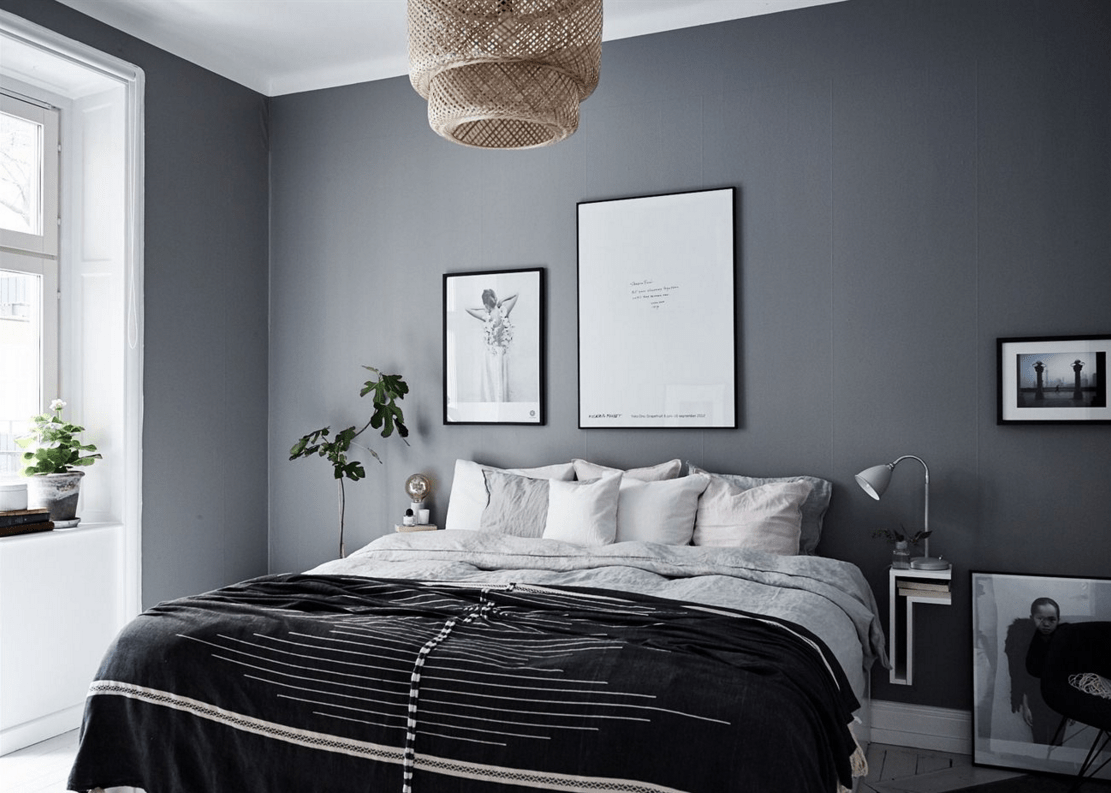 Home in grey coco lapine designcoco lapine design Bedroom ideas grey walls