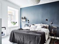 Blue bedroom wall - COCO LAPINE DESIGNCOCO LAPINE DESIGN