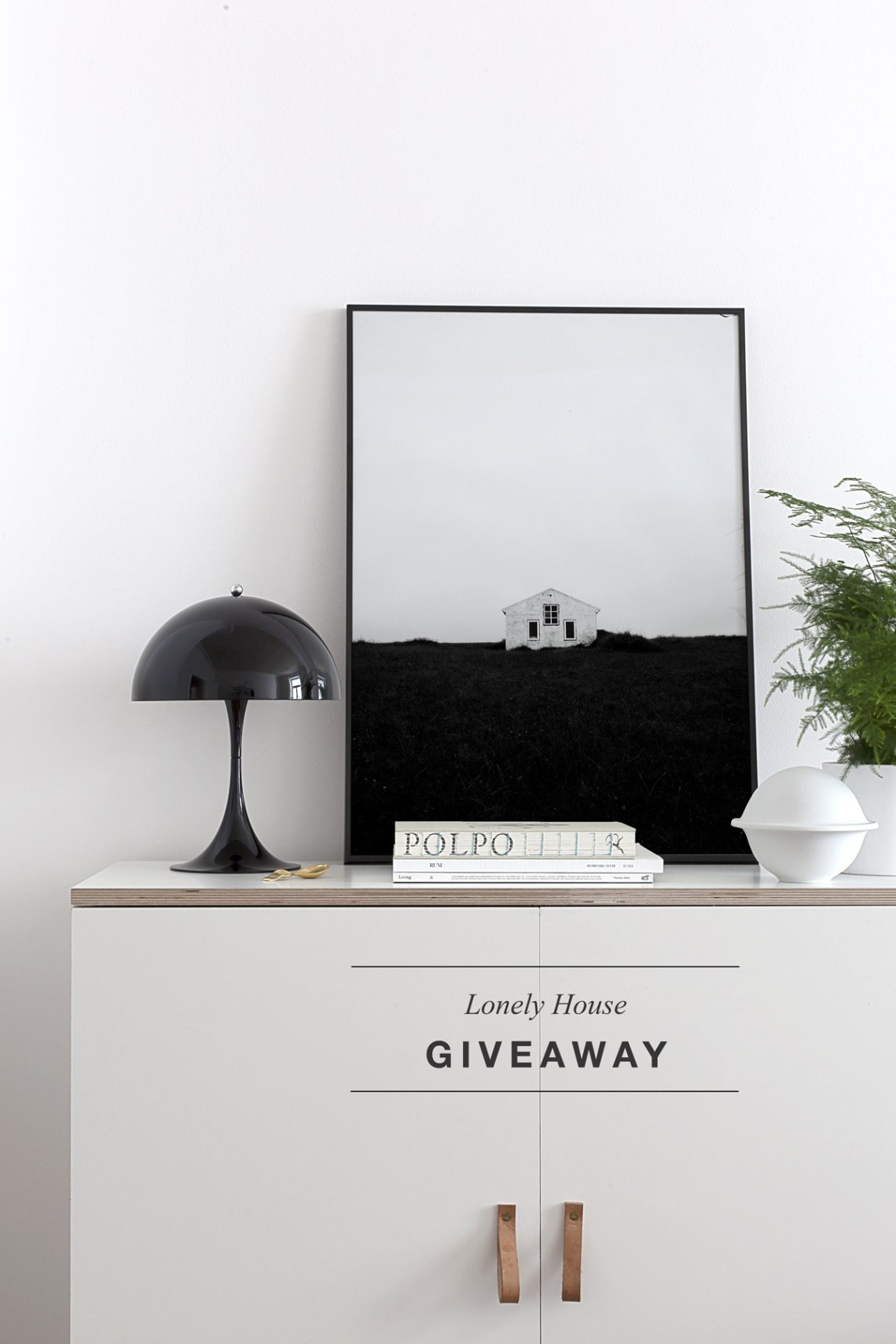 'Lonely House' print giveaway - via Coco Lapine Design