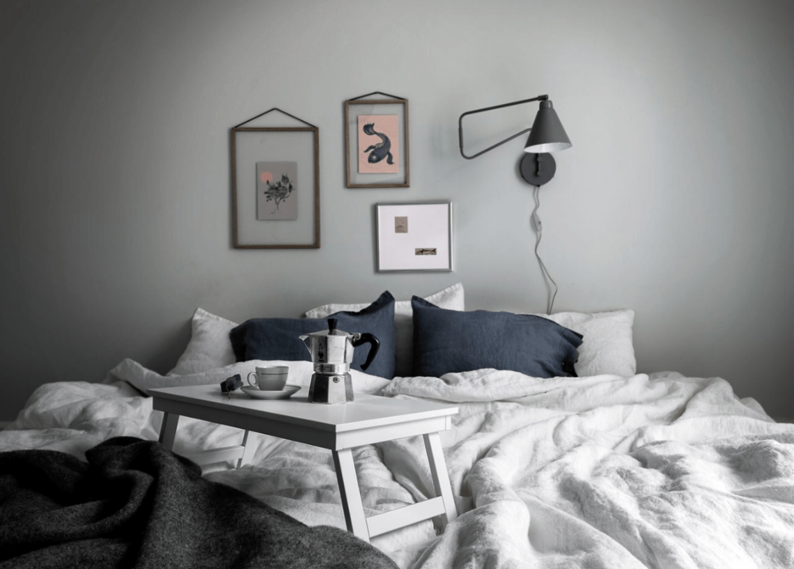 Soft bedroom colors - via Coco Lapine Design