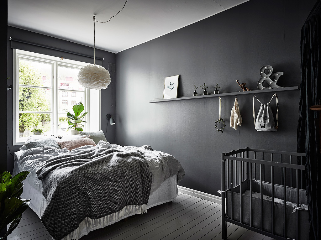 Black and grey bedroom ideas trendy wallpaper in bedroom for Black and grey bedroom wallpaper