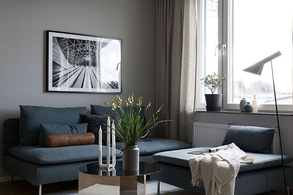 Compact home in grey - via Coco Lapine Design blog