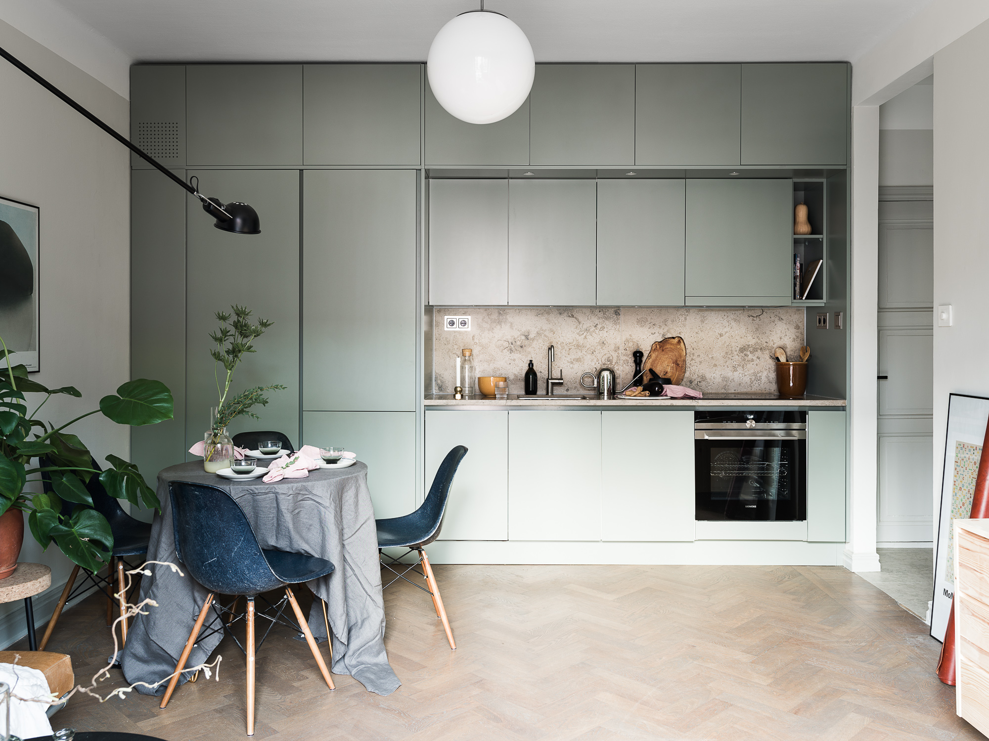 Superbe Mint Green Kitchen And Natural Stone   Via Coco Lapine Design Blog ...