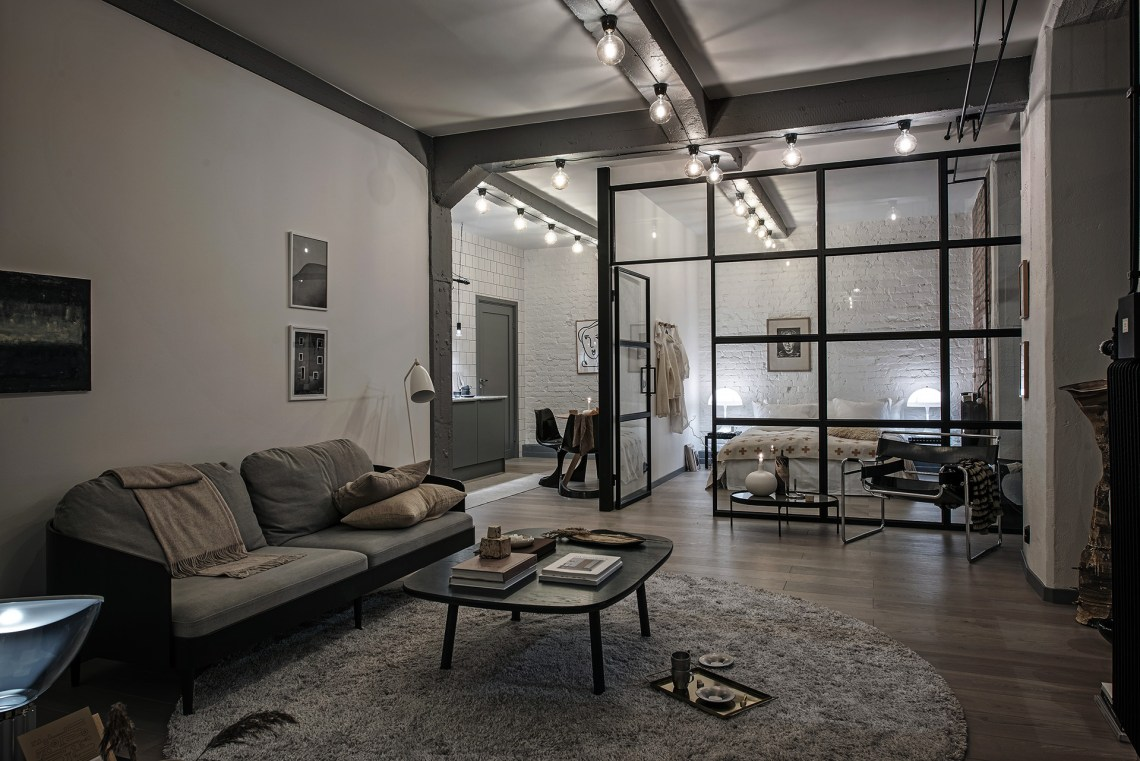 Industrial loft with beige details coco lapine for W loft