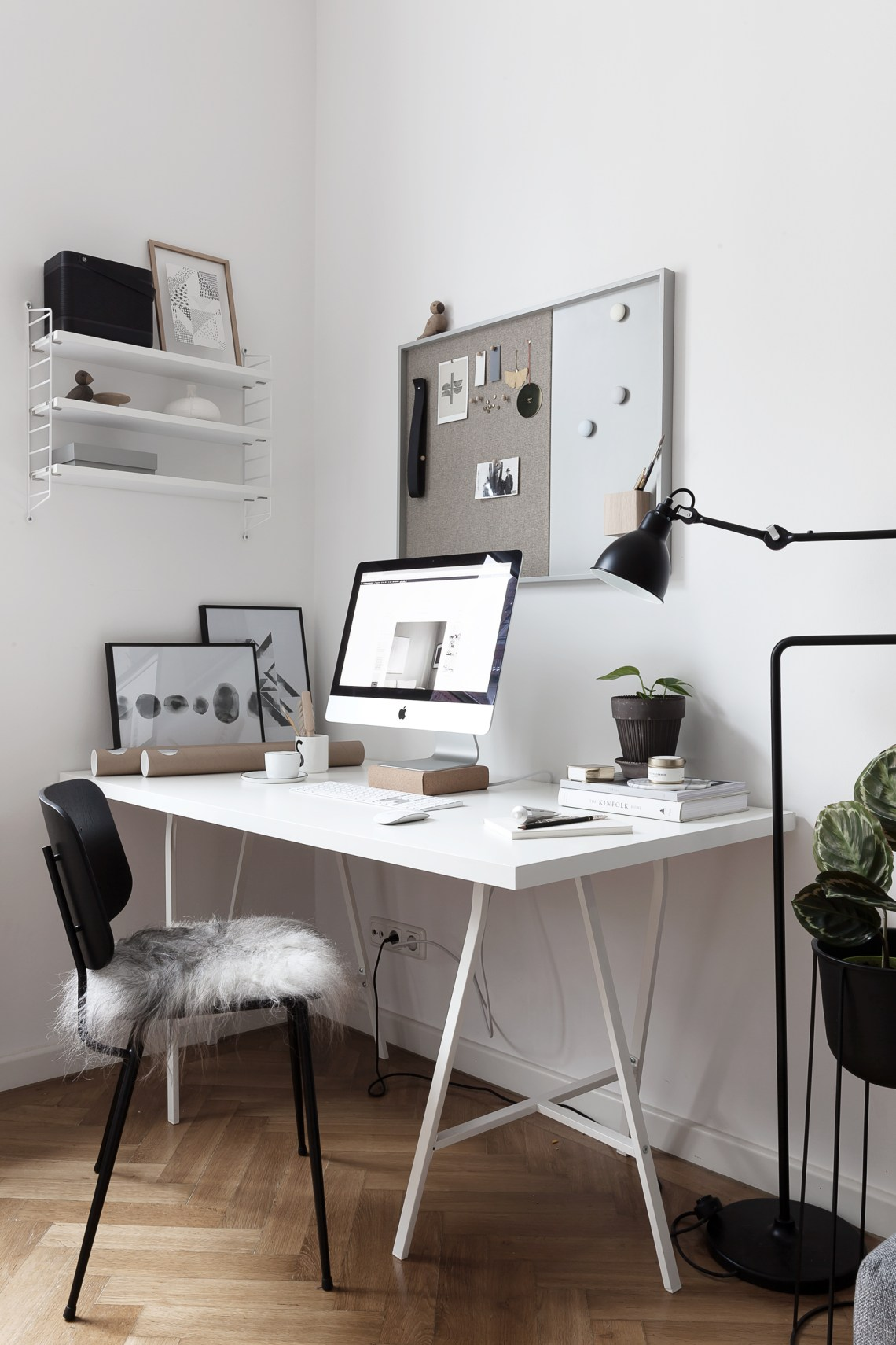 Peak into my office - via Coco Lapine Design blog
