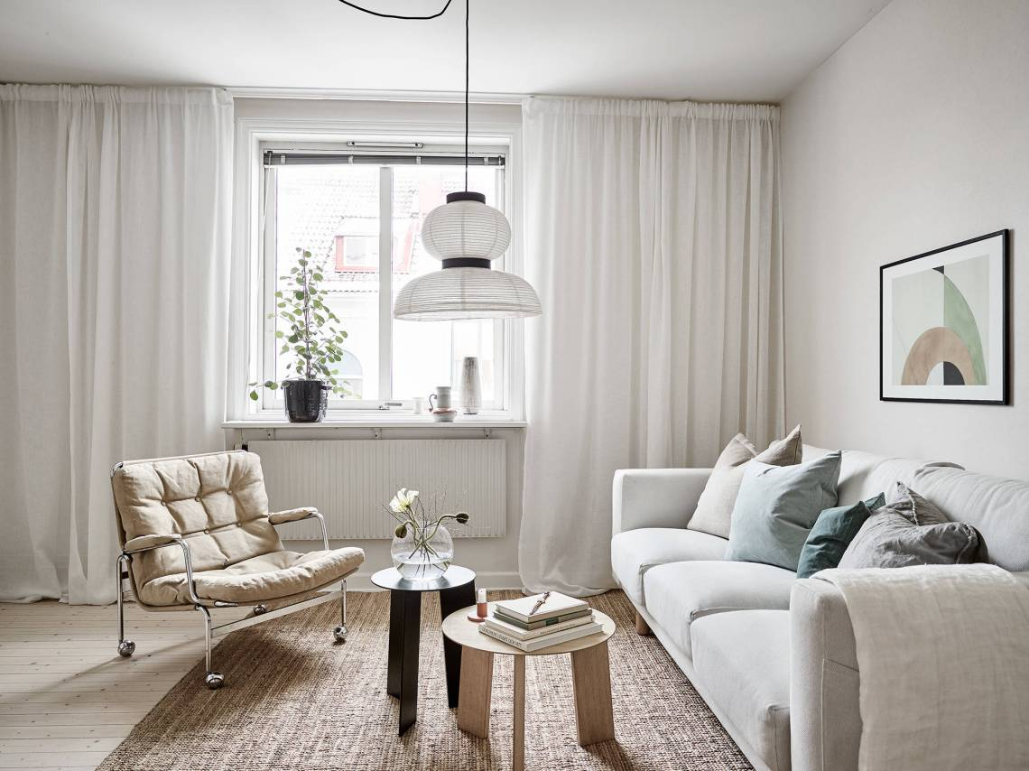 Get the look: Living room in a warm palette - via Coco Lapine Design blog