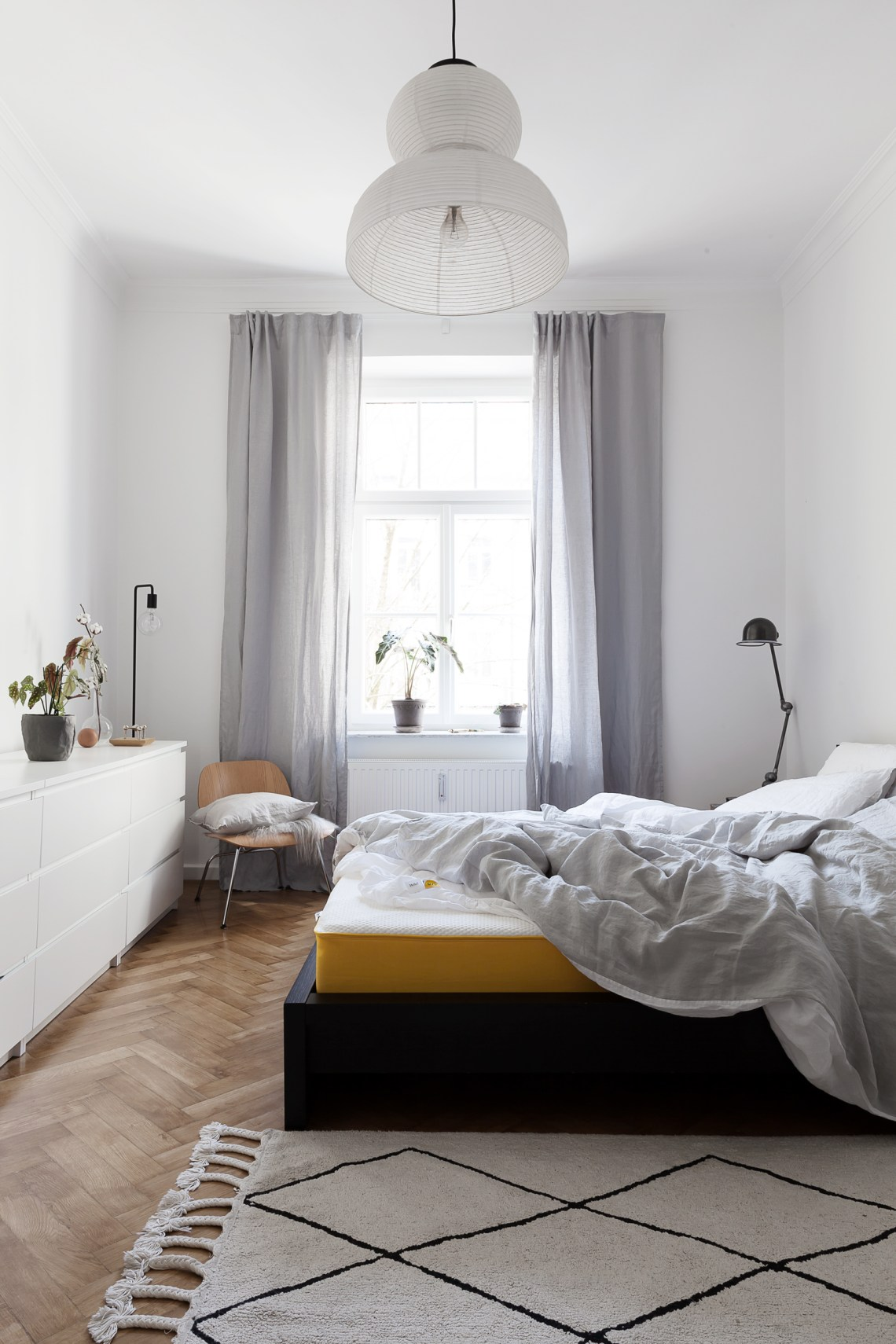 The Eve2 Mattress in our bedroom - via Coco Lapine Design blog