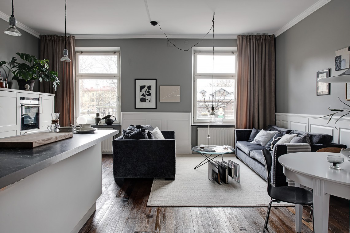 Elegant home in deep grey